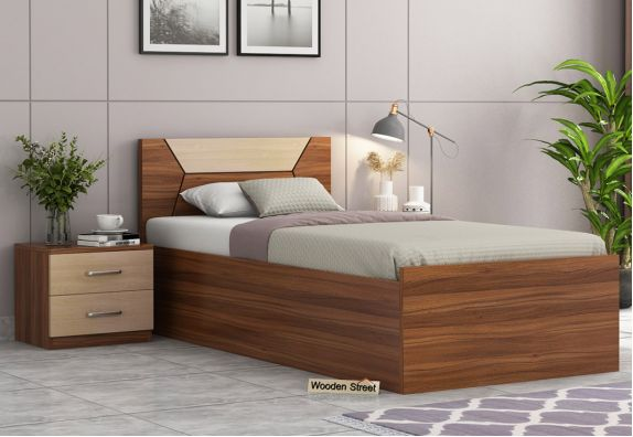 Carmen Single Bed With Box Storage, Beds, Bed online, Wooden bed, Cot, Cots design
