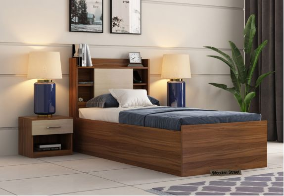 Single Bed With Box Storage, Single cot, Single Bed, Beds online, Bed, Cot online, Cots