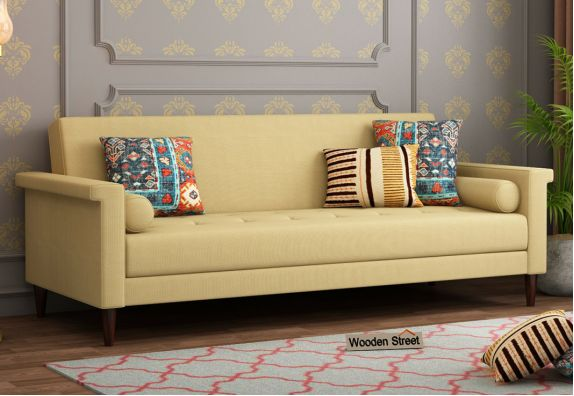 wooden sofa come bed design with price in India