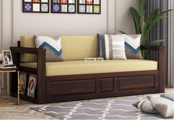 mango wood sofa cum bed in bangalore, mumbai