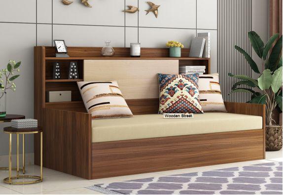 Nectar Sofa Cum Bed With Box Storage (Exotic Teak Finish)