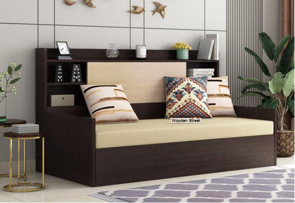 Nectar Sofa Cum Bed With Box Storage (Flowery Wenge Finish)