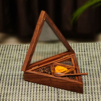 buy wooden spice box online india low price