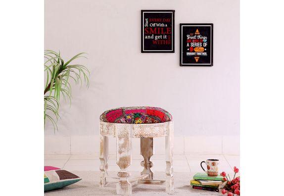 buy wooden stool online, India