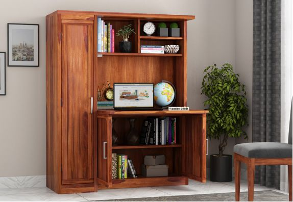 study table with bookshelf in Pune, Bangalore