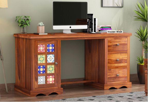Modern Office Furniture Online: Buy Sheesham wood Study Desk online India