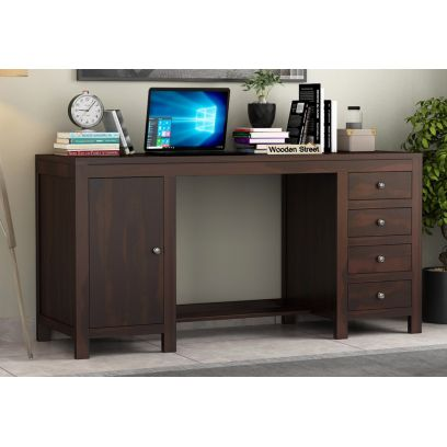 Brason Study Desk (Walnut Finish)