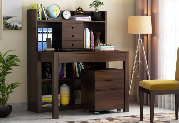Study Desk with Shelf