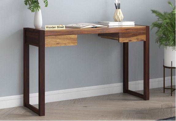 Glaze Study Table (Teak-Walnut Finish)