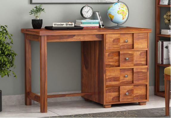 Wooden study Desk design online in India