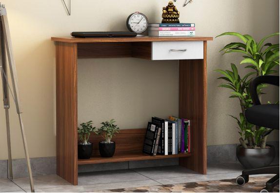 Modular Office Furniture - Miloni Study Table (Exotic Teak Finish)