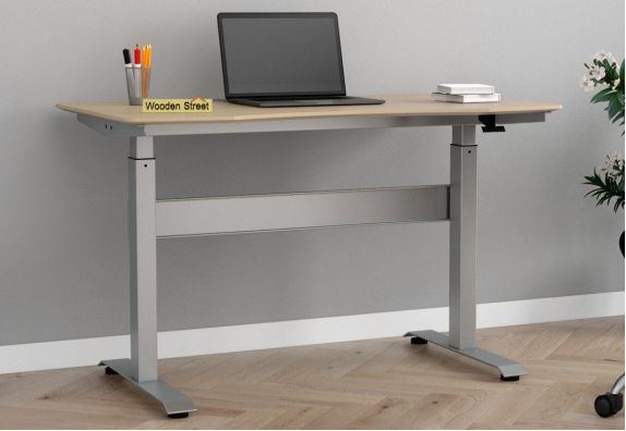 Remo Hydraulic Study Table (Ice Beech Finish)