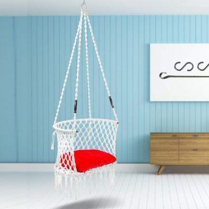 Premium C-Shape White Swing Chair
