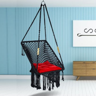 Premium Rectangle Shape Black Swing Chair