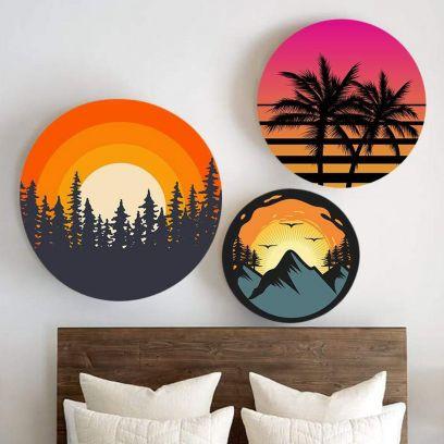 Set of 3 Striking Colors of Nature Canvas (Medium)