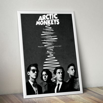 Black Arctic Monkey A5 Poster with Frame