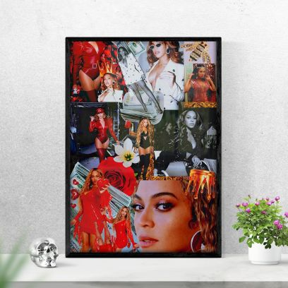 Black Beyonce A5 Poster with Frame