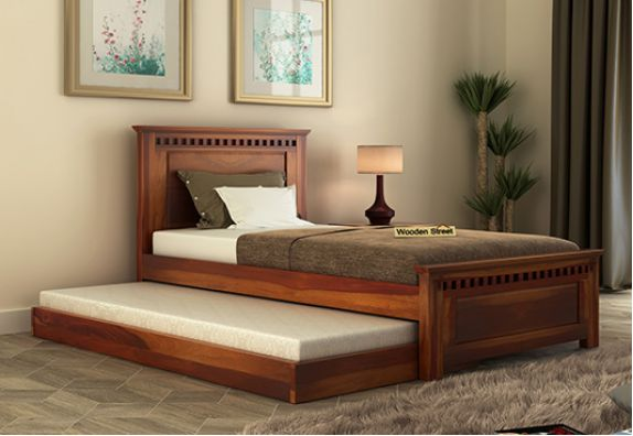 buy trundle bed online crafted with solid wood