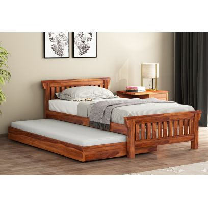 wooden truckle bed online | buy beds for kids online low price