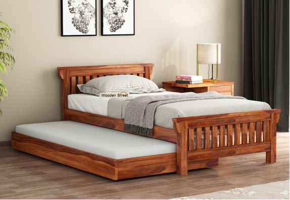 wooden truckle bed online | buy beds for kids online low price