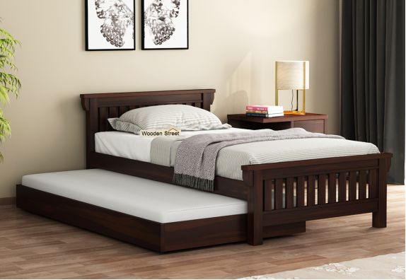 single pull out trundle bed for kids | kids bed online india
