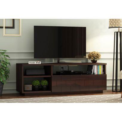 Best Wood TV Showcase Design for Hall