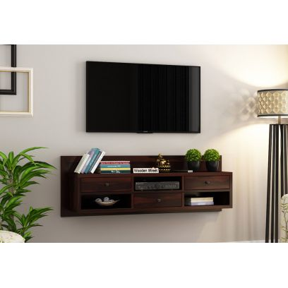 Wooden Wall TV Unit for Bedroom