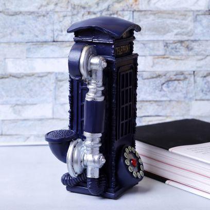 Blue Phonebooth Vintage Decorative Accent