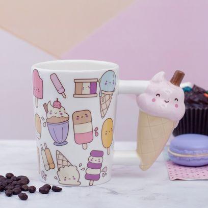 Ice Cream Cone Handle Mug
