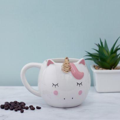 Pastel Pink Unicorn Rainbow Mason Jar
