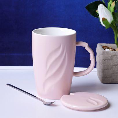 Pink Tall Pastel Coffee Mug