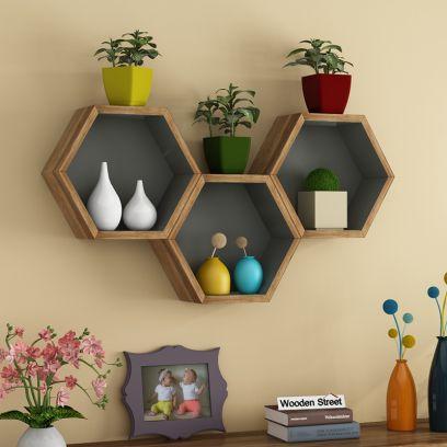 Bee Hive Wall Shelves
