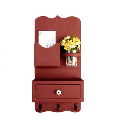 Bronx Key Holder with Wall Shelves and Storage Drawer