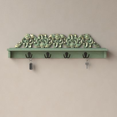 Shop Best Wall Shelf with Hooks @Low Price From WoodenStreet