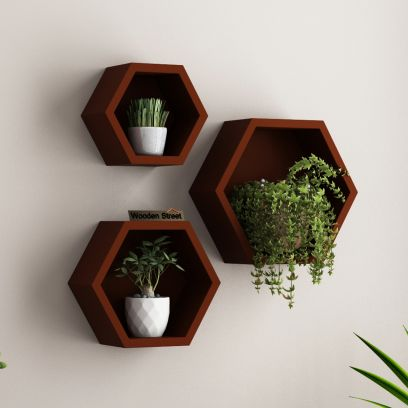 Neta Wall Shelf (Brown)
