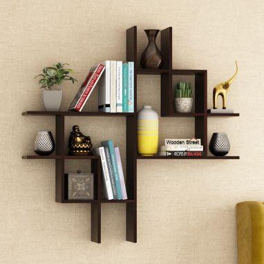 best wooden wall shelf design online