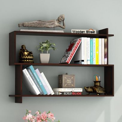 Best Wooden Wall Shelves for Living Room at WoodenStreet