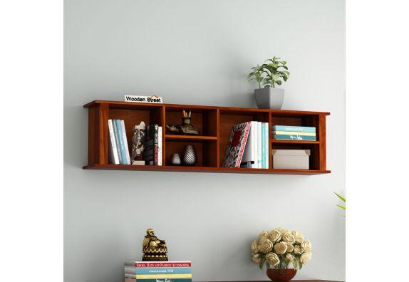 wooden corner wall shelves design online India