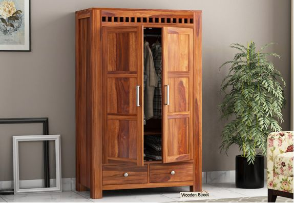 Wooden cupboard, two door wardrobe online in India