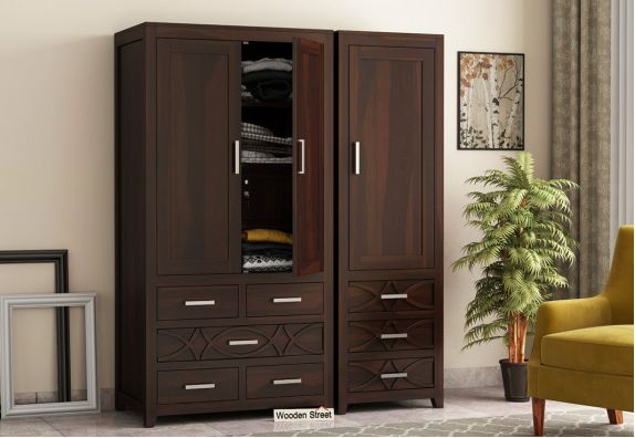 Buy solid wood wardrobe online in India
