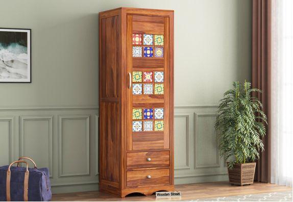 buy single door almirah: Wooden Wardrobe Online