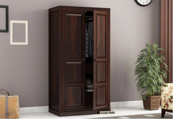 Double door solid wood wardrobe price