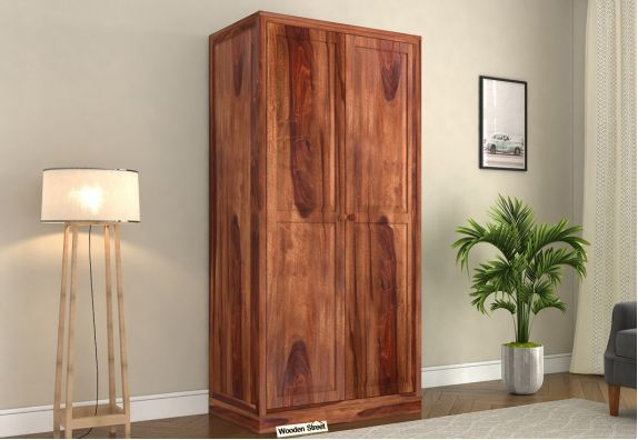 buy wooden wardrobe price low in India