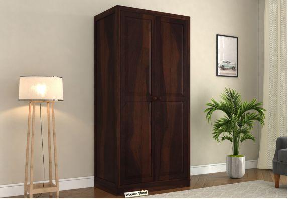 Nixon 2 Door Multi Utility Wardrobe (Walnut Finish)