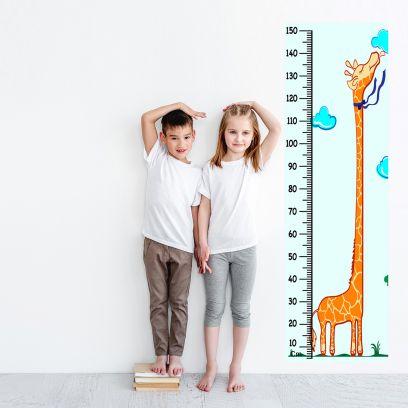 Giraffe Kids Vinyl Height Chart
