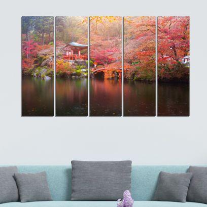 Beautiful Temple Velvet Laminated Art Panels - Set of 5 Frames
