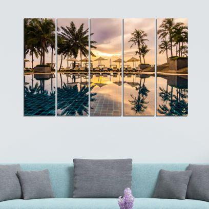 Wonders Of Nature Velvet Laminated Art Panels - Set of 5 Frames