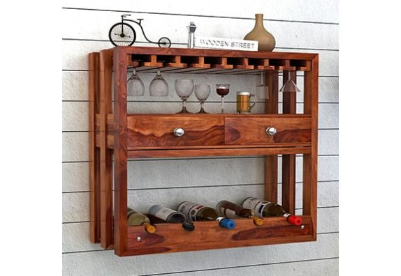 Wall Mounted Wine Bottle Rack Online India