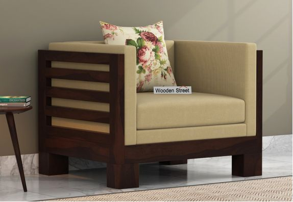 Modern One Seater Wooden Sofa