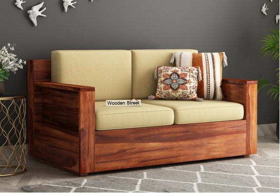 Marriott 2 Seater Wooden Sofa Set Design Images